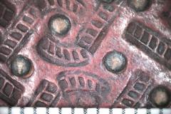 Fonadékminta bélyegzője (10x-s nagyításban)