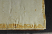 Imprint of the turn-in of the previous binding on the parchment endleaves