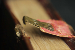 A szalagra szerelt csatrész egy lemezből hajtott