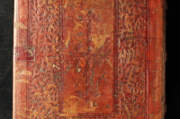 Right board with blind-tooled decoration