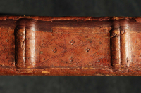 Compartment of the book with blind-tooled decoration