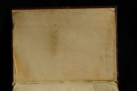 Parchment paste-down endleaves