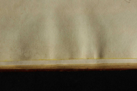 On the endleaves, undersize compared to the sheets, in-run of yellow edge painting is visible