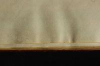 Az íveknél rövidebb előzéklapon sárga metszésfestés befutása látható