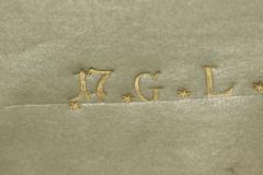 Aranyozott felirat részlete az előtáblán