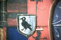 Microscopic photograph of a detail of the coat-of-arms