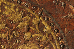 Detail of cover leather decoration