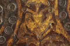 Gilded calyx flower motif