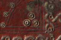 Traces of gilding on the leather onlay double circle