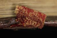 A beszövött mintával díszített textilszalag
