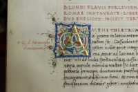 Shining gold leaf of the initial A