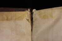 White leather endband core