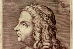 Bust of King Matthias Hunyadi (book page) Paper, etched engraving; sheet size: 12.9×9.3 cm National Széchényi Library, Collection of Early Printed Books, Ant. 3194, before page 76 Capriolo, Aliprando: Ritratti di cento capitani illustri…con li lor fatti in guerra. – In Roma, 1596. (In fine:) Per Domenico Gigliotti