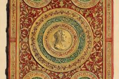 Az erlangeni MS 6 kódex előtáblája (Végh Gyula akvarellje fénykép után)