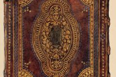Az OSZK Cod. Lat. 414. jelzetű kódexének háttáblája (Végh Gyula akvarellje)