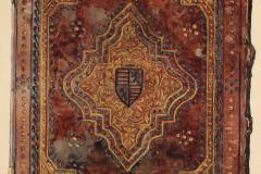 Az OSZK Cod. Lat. 160. jelzetű kódexének háttáblája (Végh Gyula akvarellje)