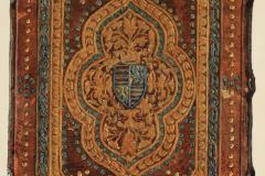 Az OSZK Cod. Lat. 422. jelzetű kódexének háttáblája (Végh Gyula akvarellje)