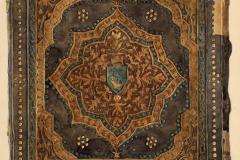 Az OSZK Cod. Lat. 425 jelzetű kódexének háttáblája (Végh Gyula akvarellje)