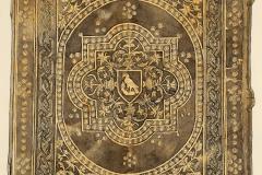 A Yale egyetem F. 92-145 jelzetű kódexének háttáblája (Végh Gyula akvarellje fénykép után)