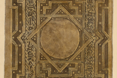 A volterrai Cod. Lat. 5518. IV. 49. 3. 7. jelzetű kódex kötése (Végh Gyula akvarellje fénykép után)