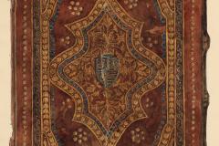 A bécsi Cod. 1037 jelzetű kódex háttáblája (Végh Gyula akvarellje fénykép után)